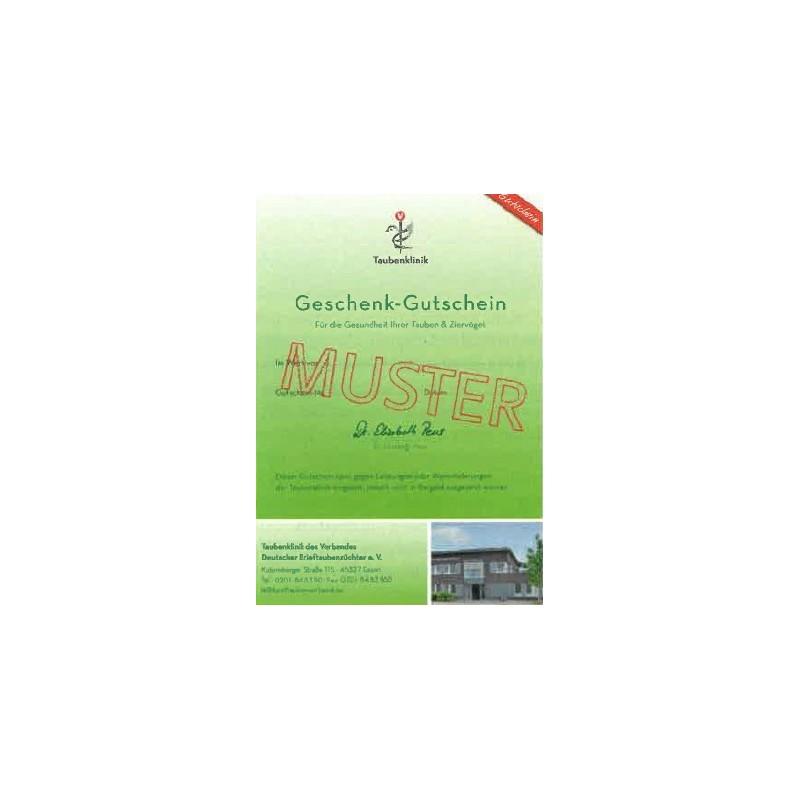 Geschenkgutschein der Taubenklinik ab 20,00 €